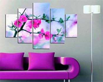 Tablou decorativ multicanvas Destiny, 5 Piese, Flori, 247DST1984, Multicolor
