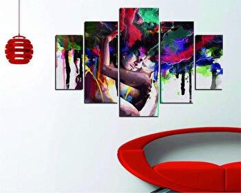 Tablou decorativ multicanvas Destiny, 5 Piese, Abstract, 247DST1987, Multicolor de la Destiny