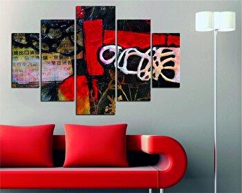 Tablou decorativ multicanvas Destiny, 5 Piese, 247DST1988, Multicolor