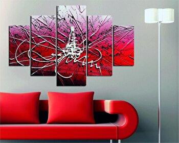Tablou decorativ multicanvas Destiny, 5 Piese, 247DST2915, Multicolor