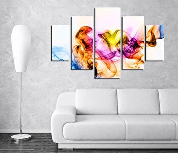 Tablou decorativ multicanvas Destiny, 5 Piese, Abstract, 247DST2929, Multicolor de la Destiny
