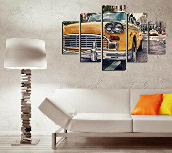 Tablou decorativ multicanvas Destiny, 5 Piese, Retro, 247DST2931, Multicolor