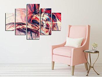 Tablou decorativ multicanvas Destiny, 5 Piese, Abstract, 247DST2938, Multicolor de la Destiny