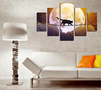 Tablou decorativ multicanvas Destiny, 5 Piese, Abstract, 247DST2945, Multicolor de la Destiny