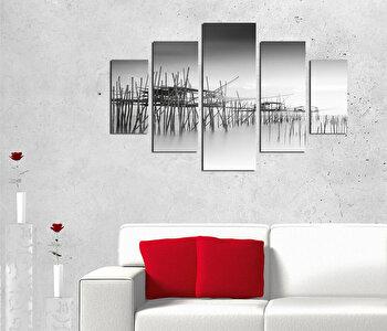 Tablou decorativ multicanvas Destiny, 5 Piese, Peisaj, 247DST2950, Multicolor