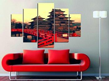 Tablou decorativ multicanvas Miracle, 5 Piese, Asia, 236MIR1927, Multicolor de la Miracle