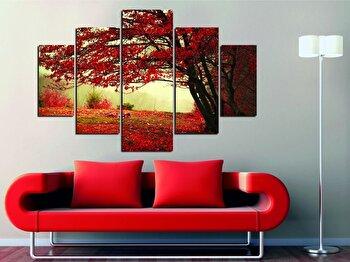 Tablou decorativ multicanvas Miracle, 5 Piese, Retro, 236MIR1936, Multicolor de la Miracle