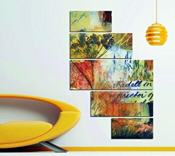 Tablou decorativ multicanvas Miracle, 5 Piese, 236MIR1940, Multicolor