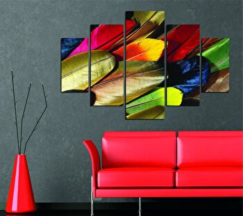 Tablou decorativ multicanvas Miracle, 5 Piese, Abstract, 236MIR1951, Multicolor de la Miracle