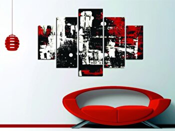 Tablou decorativ multicanvas Miracle, 5 Piese, Abstract, 236MIR1950, Multicolor