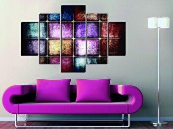 Tablou decorativ multicanvas Miracle, 5 Piese, 236MIR1953, Multicolor