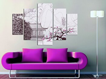 Tablou decorativ multicanvas Miracle, 5 Piese, 236MIR1989, Multicolor