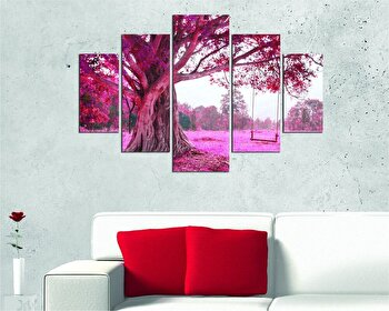 Tablou decorativ multicanvas Miracle, 5 Piese, Abstract, 236MIR2907, Multicolor de la Miracle