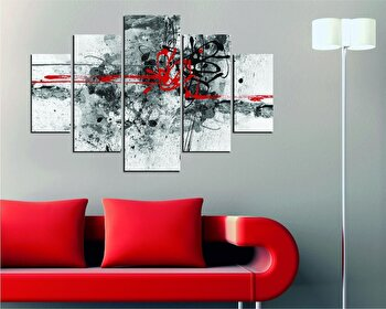Tablou decorativ multicanvas Miracle, 5 Piese, Abstract, 236MIR2913, Multicolor de la Miracle