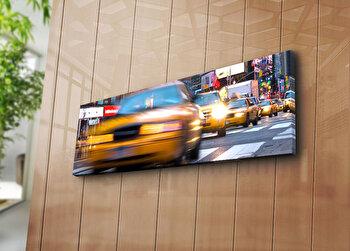Tablou decorativ pe panza Horizon, 237HRZ1277, 30 x 90 cm, Multicolor