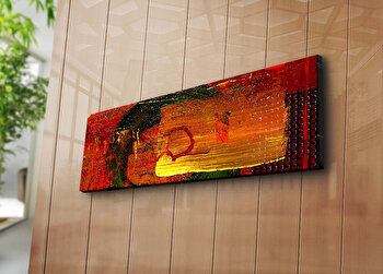 Tablou decorativ pe panza Horizon, 237HRZ1279, 30 x 90 cm, Multicolor