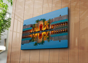 Tablou decorativ pe panza Horizon, 237HRZ5319, Multicolor