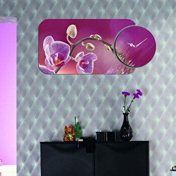 Ceas decorativ de perete Home Art, 2 Piese, 238HMA5123, Multicolor