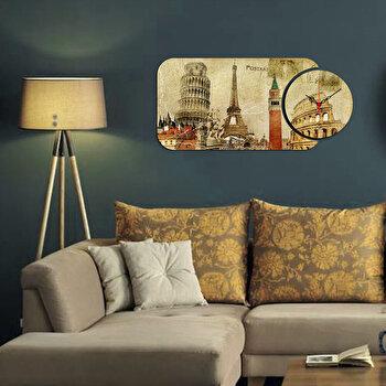 Ceas decorativ Home Art, 2 Piese, 238HMA5151, Multicolor
