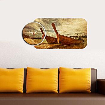 Ceas decorativ de perete Home Art, 2 Piese, 238HMA5165, Multicolor