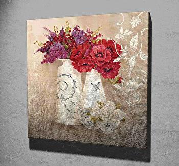 Tablou decorativ pe panza Majestic, 257MJS1309, 45 x 45 cm, Multicolor