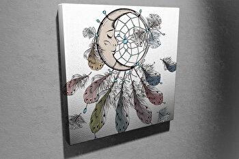 Tablou decorativ pe panza Symphony, 762SYM4241, 45 x 45 cm, Multicolor