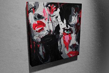 Tablou decorativ pe panza Symphony, 762SYM4250, 45 x 45 cm, Multicolor