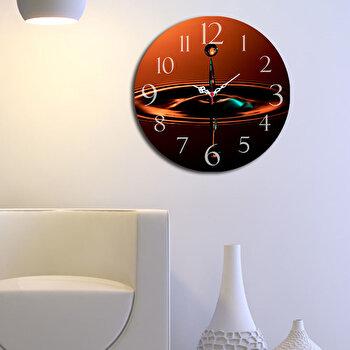 Ceas decorativ de perete din lemn Home Art, 238HMA3108, 40 cm, Portocaliu de la Home Art