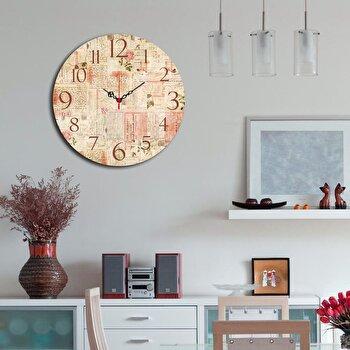 Ceas decorativ Home Art, 238HMA3110, 40 cm, Multicolor de la Home Art