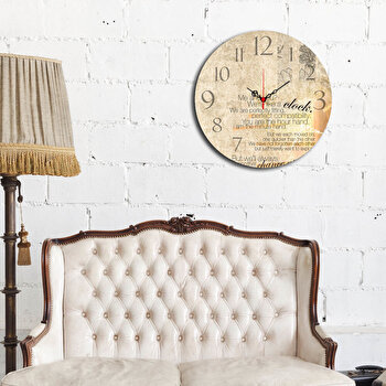 Ceas decorativ de perete Home Art, 238HMA3112, 40 cm, Multicolor de la Home Art
