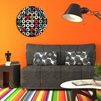 Ceas decorativ de perete Home Art, 238HMA3117, 40 cm, Multicolor de la Home Art