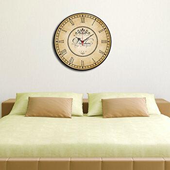 Ceas decorativ de perete Home Art, 238HMA3131, 40 cm, Bej de la Home Art