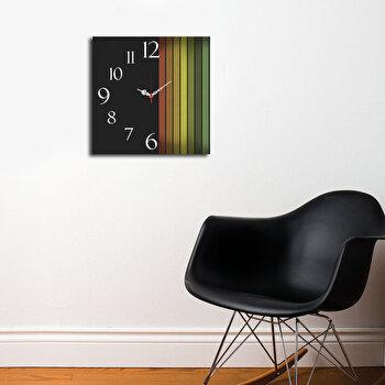 Ceas decorativ de perete Home Art, 238HMA3191, 40 x 40 cm, Multicolor