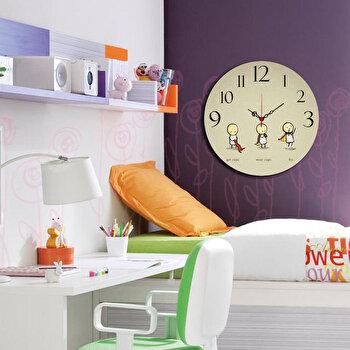 Ceas decorativ de perete Taffy, 241TFY3110, 40 cm, Multicolor de la Taffy