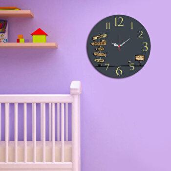 Ceas decorativ de perete Taffy, 241TFY3104, 40 cm, Multicolor