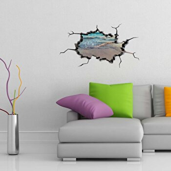 Sticker decorativ de perete Wall 3D, 259DWL1008, Multicolor