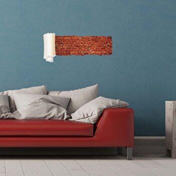Sticker decorativ de perete Wall 3D, 259DWL1091, Multicolor