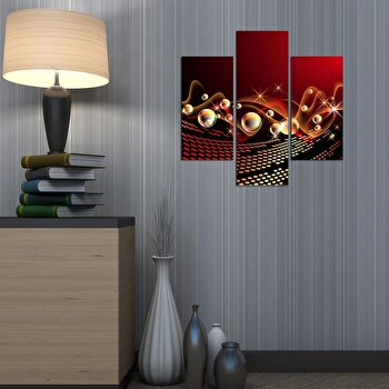 Tablou decorativ Multicanvas Three Art, 3 Piese, 251TRE1900, Multicolor de la Three Art