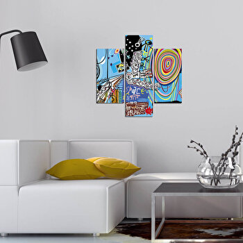Tablou decorativ Multicanvas Three Art, 3 Piese, 251TRE1901, Multicolor de la Three Art