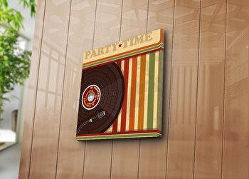 Tablou decorativ Bonanza, 242BNZ1214, 45 x 45 cm, Multicolor