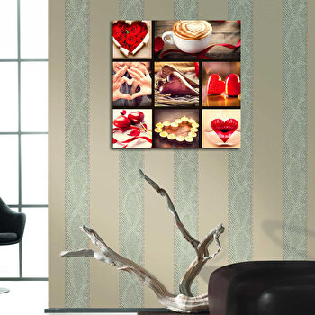 Tablou decorativ Bonanza, 242BNZ1290, 45 x 45 cm, Multicolor
