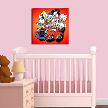 Tablou decorativ Taffy, 241TFY1216, 45 x 45 cm, Multicolor