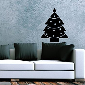Sticker decorativ de perete Christmas Wall, 229CST1034, Negru de la Christmas Wall