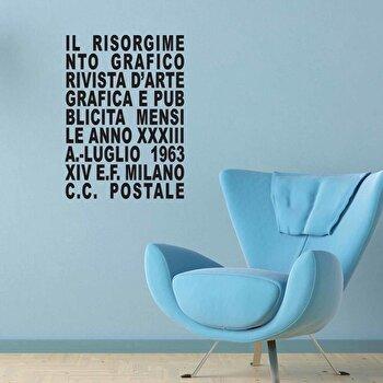 Sticker decorativ de perete Italian Wall, 262ITA1002, Negru de la Italian Wall