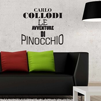 Sticker decorativ de perete Italian Wall, 262ITA1006, Negru