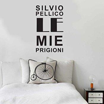 Sticker decorativ de perete Italian Wall, 262ITA1005, Negru de la Italian Wall