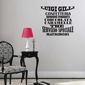 Sticker decorativ de perete Italian Wall, 262ITA1009, Negru de la Italian Wall