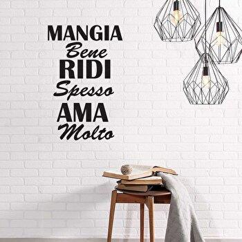 Sticker decorativ de perete Italian Wall, 262ITA1023, Negru