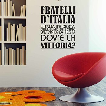 Sticker decorativ de perete Italian Wall, 262ITA1027, Negru