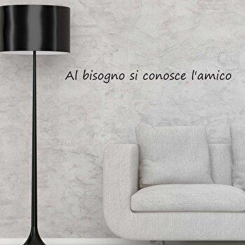 Sticker decorativ de perete Italian Wall, 262ITA1033, Negru de la Italian Wall